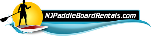 NJ paddle board rentals LOGO for water reveal